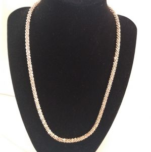 925 Silver Diamond Cut Rope Necklace